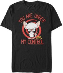 men's pinky the brain you are under my control short sleeve t-shirt