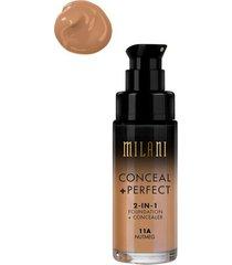 milani conceal & perfect liquid foundation concealer nutmeg