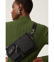pochete amaro utilitã¡ria bolsos preto - preto - feminino - dafiti