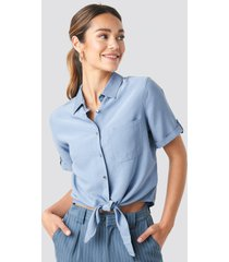 trendyol button detailed blouse - blue