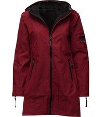 hip-length softshell raincoat regenkleding rood ilse jacobsen