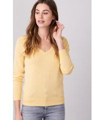 basic sweater met v-hals van katoen-mix