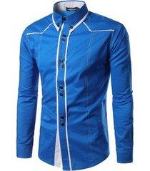 camiseta casual de manga corta en color liso para hombre