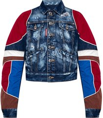 denim jacket with raw edge