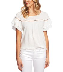 cece circle-trim tiered-sleeve top