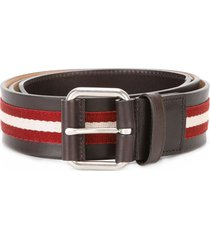 bally stripe panel belt - red