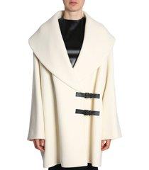 lanvin coat with double logo