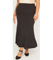 black label seamed maxi skirt