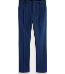 scotch & soda blake - pleated patterned trousers regular slim fit