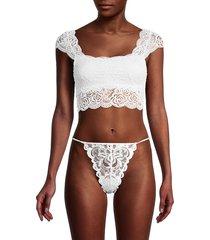 free people women's chase me lace bralette - black - size s