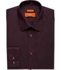 egara burgundy extreme slim fit dress shirt