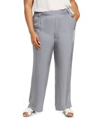 plus size women's vince wide leg pull-on pants, size xx-large - blue