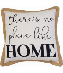 "harika no place like home braided jute pillow, 20"" x 20"""