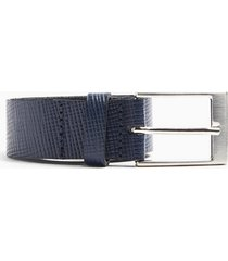 mens black saffiano leather navy with silver belt