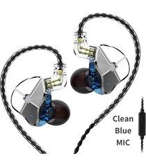 audífonos trn® st1 monitores in ear fidelidad híbridos micrófono mejores que kz zst - azul
