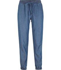 jeans in lino e tencel™ con elastico in vita (blu) - john baner jeanswear