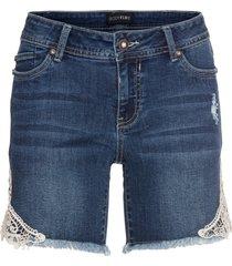 shorts di jeans con pizzo (blu) - bodyflirt