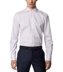 boss men's jason light pastel pink shirt