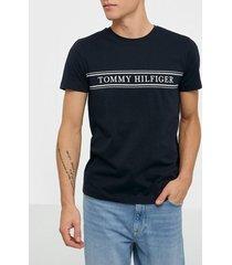tommy hilfiger rope stripe tee t-shirts & linnen desert