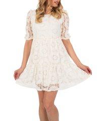 women's speechless lace babydoll dress, size small - ivory