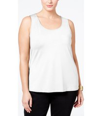 charter club plus size tank top, created for macy's