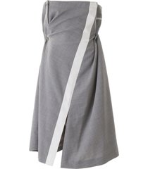 sacai draped dress