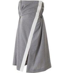 sacai draped dress