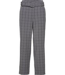 mokita pants ma18 pantalon met rechte pijpen grijs gestuz