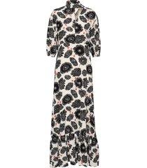 meadow poppy maxi dress galajurk multi/patroon rodebjer