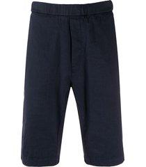 barena textured elasticated waist shorts - blue