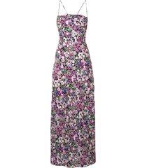bec + bridge anais lace up midi dress - pink