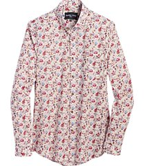 paisley & gray slim fit sport shirt rose floral