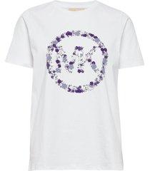 emb mk circle tee t-shirts & tops short-sleeved vit michael kors