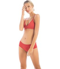 bra top sin copa en lycra1490t01l terracota  options intimate