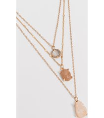 maurices womens 3 row layered drape necklace brown