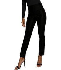 women's good american the croc exec pants, size 2 - black