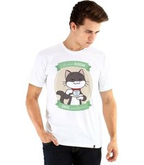 camiseta ouroboros manga curta café e gatos