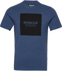 b.intl block tee t-shirts short-sleeved blå barbour