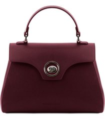 tuscany leather tl141824 tl bag - bauletto in pelle bordeaux