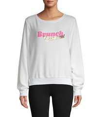 brunch enthusiast graphic sweatshirt