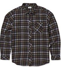 billabong men's freemont stretch plaid flannel shirt