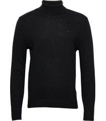 hco. guys sweaters knitwear turtlenecks svart hollister