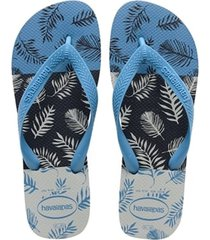 sandalias chanclas havaianas para hombre azul aloha
