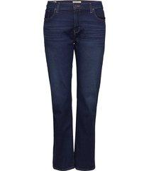 314 pl shaping straight bogota raka jeans blå levi's plus