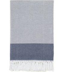 linum home elegant thin stripe pestemal beach towel bedding