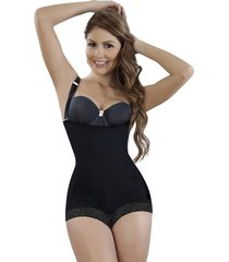 strapless levantacola body  cachetero con encaje italiana- negra