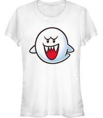 fifth sun nintendo women's super mario boo face short sleeve tee shirt