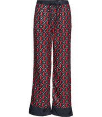 drapey pants with allover print vida byxor svart scotch & soda