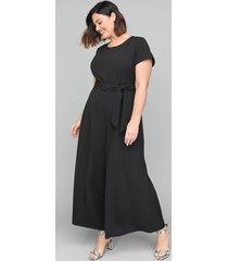 lane bryant women's lena wide-leg jumpsuit 28 black