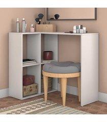 penteadeira 4 nichos bpe42 branco - brv móveis